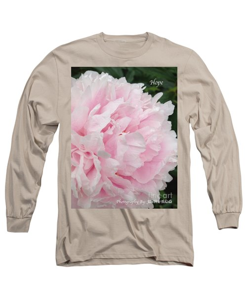 Long Sleeve T-Shirt featuring the digital art Soft Pink Peony by Jeannie Rhode