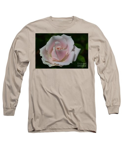 Long Sleeve T-Shirt featuring the photograph Soft Pink Rose by Jeannie Rhode