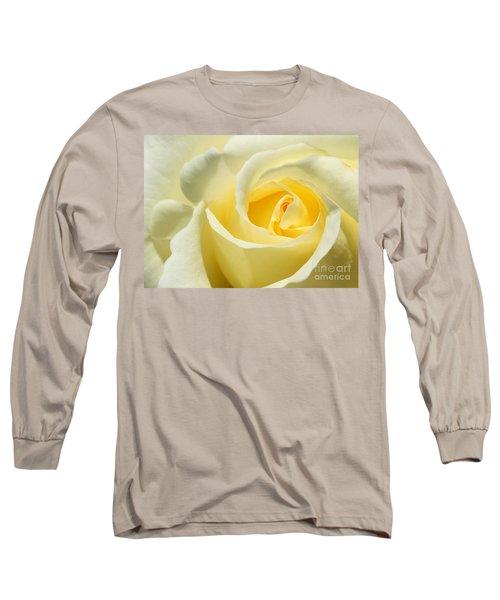 Soft Yellow Rose Long Sleeve T-Shirt