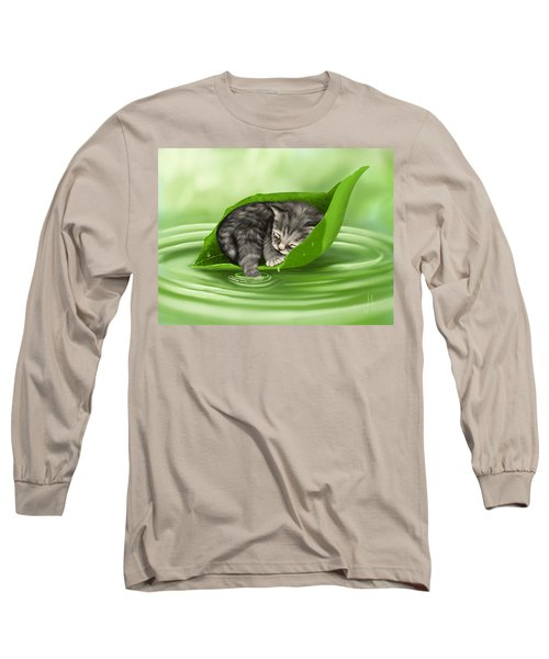 Softly Lulled Long Sleeve T-Shirt by Veronica Minozzi