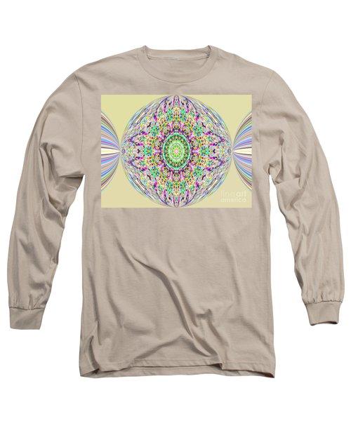 Softness. Art. Yellow Pink Design Long Sleeve T-Shirt