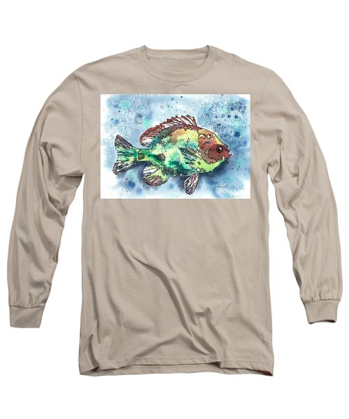 Something's Fishy Long Sleeve T-Shirt by Barbara Jewell