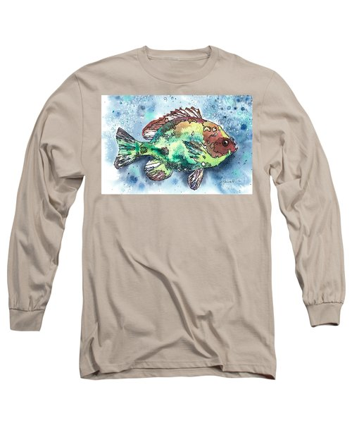 Something's Fishy Two Long Sleeve T-Shirt by Barbara Jewell