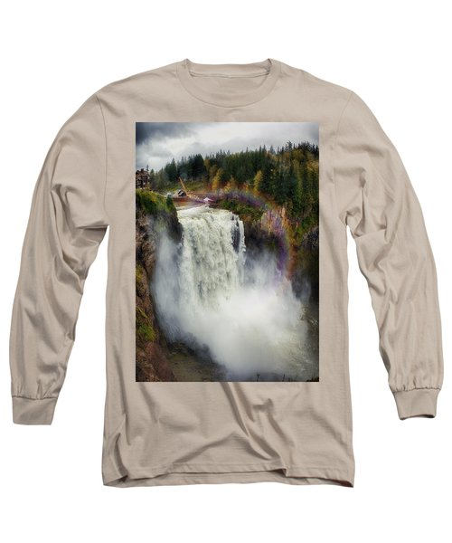 Somewhere Over The Falls Long Sleeve T-Shirt by James Heckt