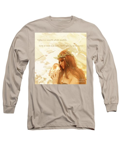 Sounds Of The Sea Long Sleeve T-Shirt by Linda Lees