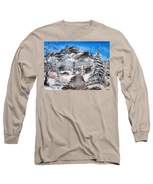 Long Sleeve T-Shirt featuring the painting South Dakota Morning by Patrice Torrillo