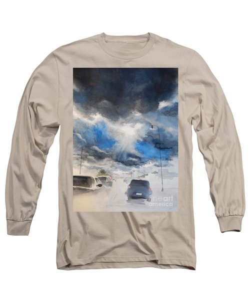 South Maple Road   Ann Arbor Michigan Long Sleeve T-Shirt by Yoshiko Mishina