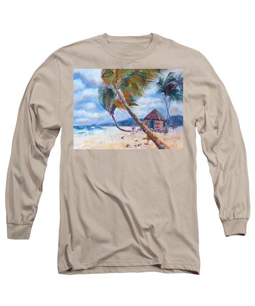 South Pacific Hut Long Sleeve T-Shirt