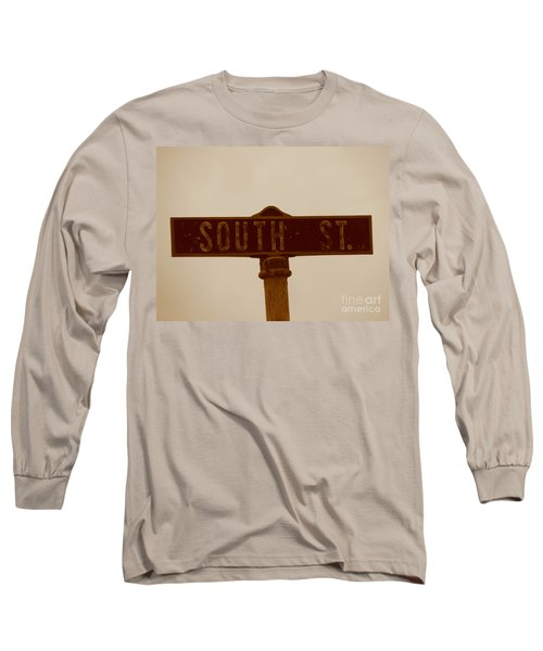 South Street Long Sleeve T-Shirt by Michael Krek