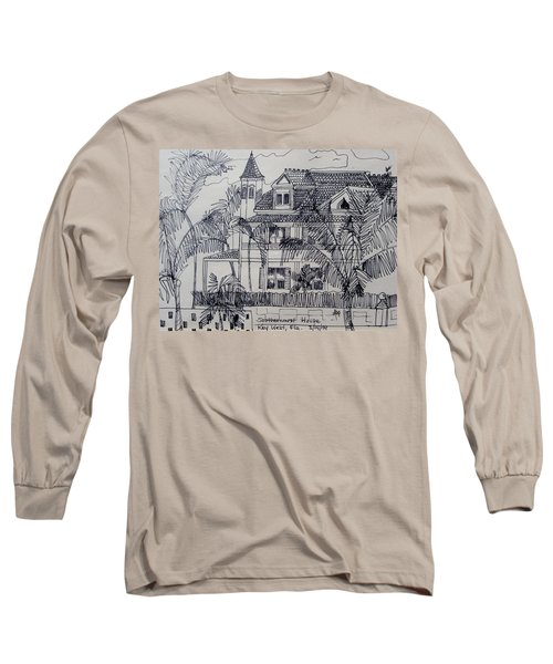 Southernmost House  Key West Florida Long Sleeve T-Shirt