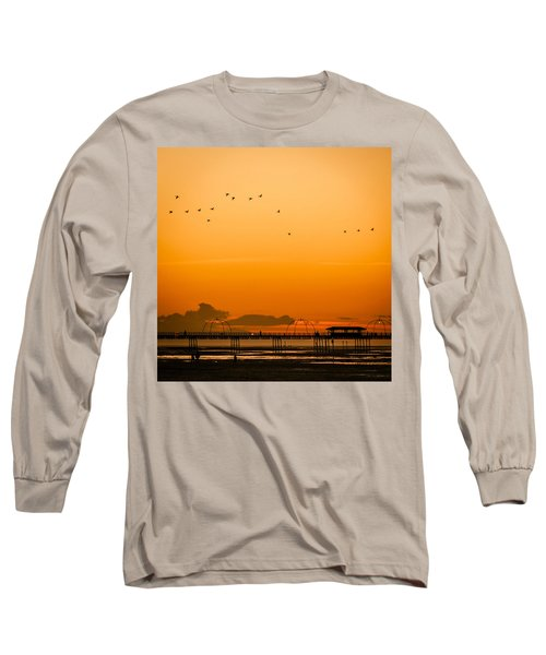 Southport Pier At Sunset Long Sleeve T-Shirt
