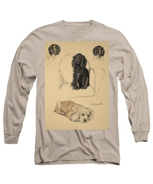 Spaniels, 1930, Illustrations Long Sleeve T-Shirt
