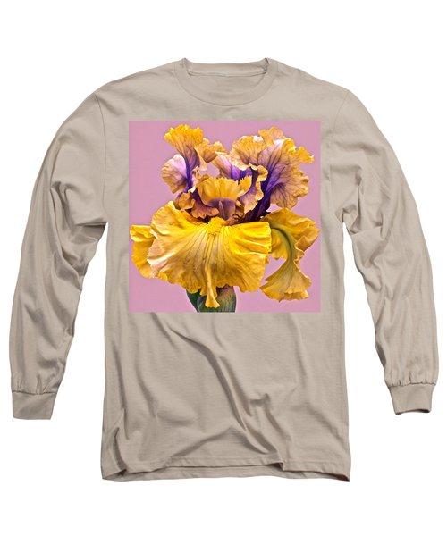 Spectacular Iris Close Up Long Sleeve T-Shirt
