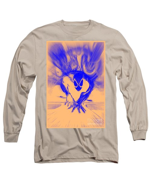 Spider-man T B Blast Long Sleeve T-Shirt by Justin Moore