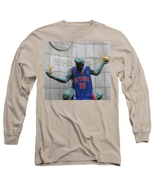 Spirit Of Detroit Piston Long Sleeve T-Shirt