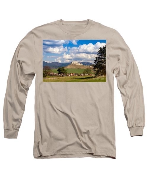 Long Sleeve T-Shirt featuring the photograph Spissky Hrad - Castle by Les Palenik
