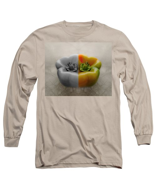 Split Pepper Long Sleeve T-Shirt