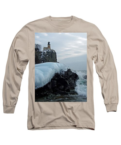 Split Rock Lighthouse Winter Long Sleeve T-Shirt
