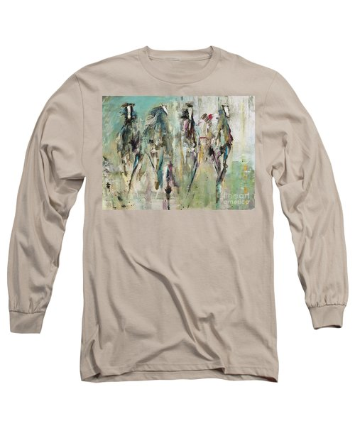 Spooked Long Sleeve T-Shirt by Frances Marino