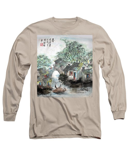 Long Sleeve T-Shirt featuring the photograph Spring In Watertown by Yufeng Wang