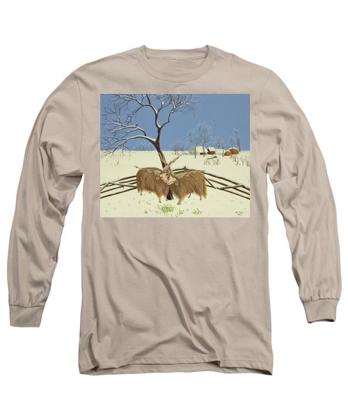 Spring In Winter Long Sleeve T-Shirt by Magdolna Ban