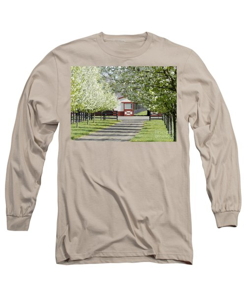 Spring Time At The Farm Long Sleeve T-Shirt by Sami Martin