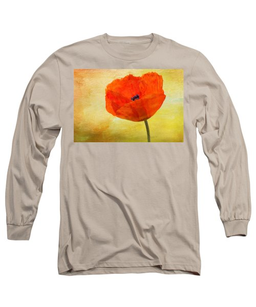 Springtime Poppy Beauty Long Sleeve T-Shirt by Denyse Duhaime