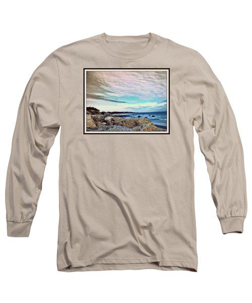 Squibby Cliffs And Mackerel Sky Long Sleeve T-Shirt by Kathy Barney