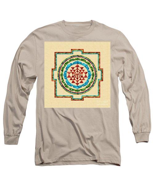 Sri Yantra Long Sleeve T-Shirt by Olga Hamilton
