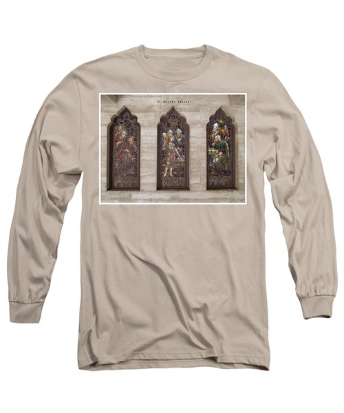 Long Sleeve T-Shirt featuring the photograph St Josephs Arcade - The Mission Inn by Glenn McCarthy Art and Photography