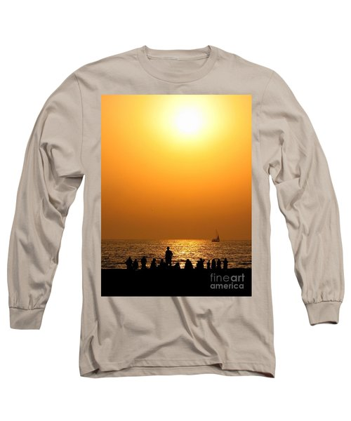 St. Petersburg Sunset Long Sleeve T-Shirt by Peggy Hughes