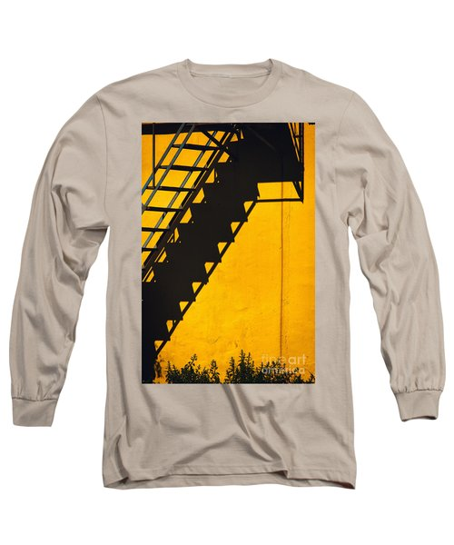 Long Sleeve T-Shirt featuring the photograph Staircase Shadow by Silvia Ganora