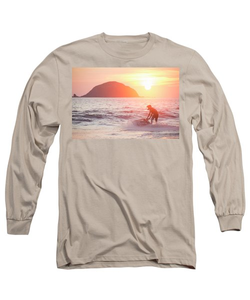 Stand Up Jet Ski Rider  Sessioning Long Sleeve T-Shirt