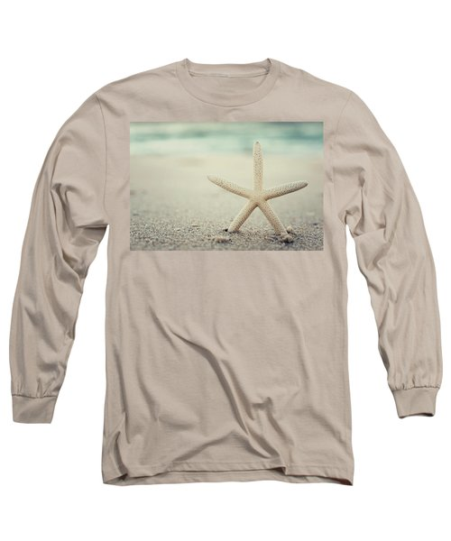 Starfish On Beach Vintage Seaside New Jersey  Long Sleeve T-Shirt