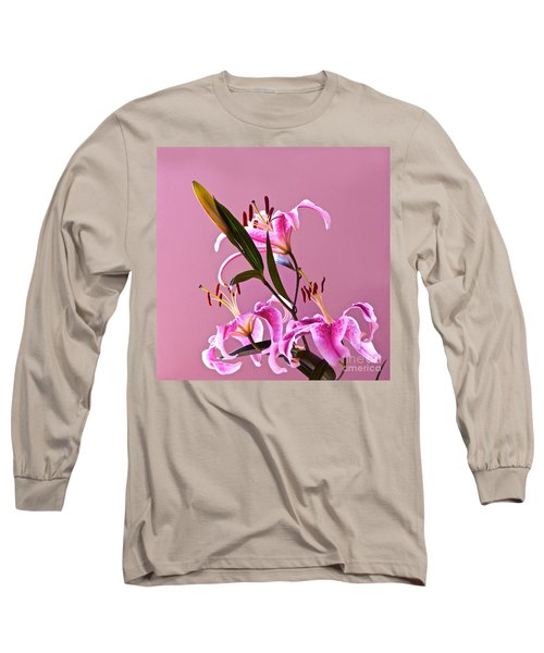 Stargazer Lilies Square Frame Long Sleeve T-Shirt