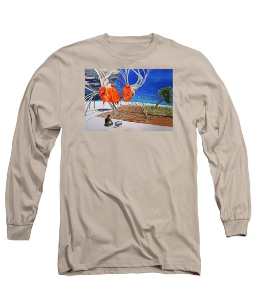 State Of Emotion The Pulse Let It Work... Long Sleeve T-Shirt by Lazaro Hurtado
