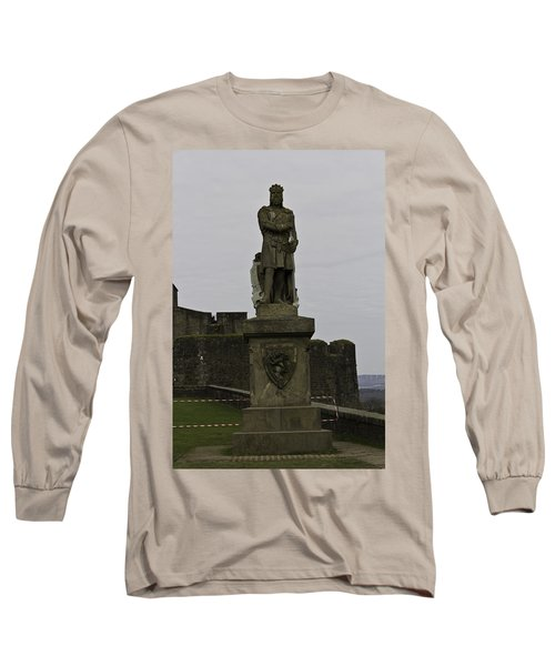 Statue Of Robert The Bruce On The Castle Esplanade At Stirling Castle Long Sleeve T-Shirt