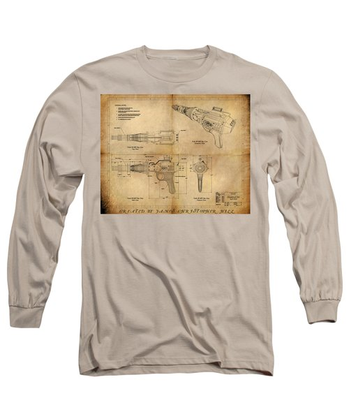 Steampunk Raygun Long Sleeve T-Shirt by James Christopher Hill