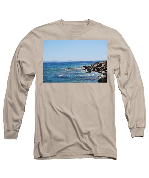 Long Sleeve T-Shirt featuring the photograph Stiff Breeze by George Katechis