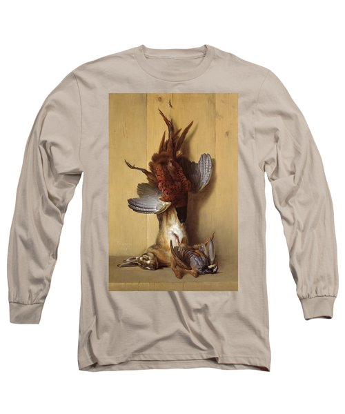 Still Life With A Hare, A Pheasant And A Red Partridge Long Sleeve T-Shirt