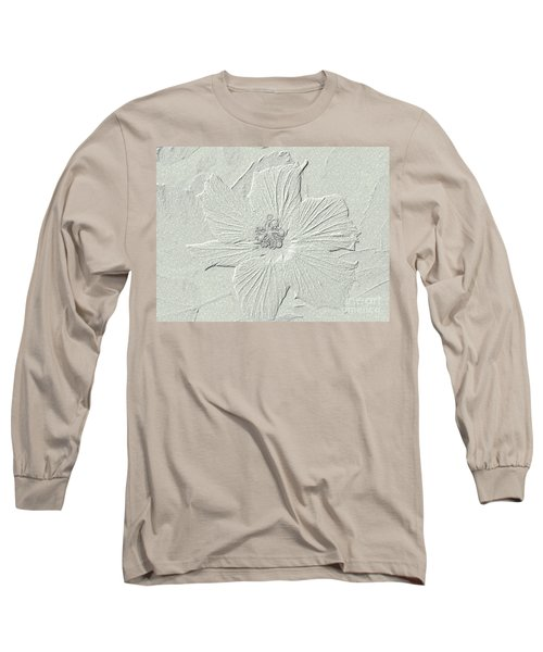 Long Sleeve T-Shirt featuring the photograph Stone Hibiscus by Oksana Semenchenko