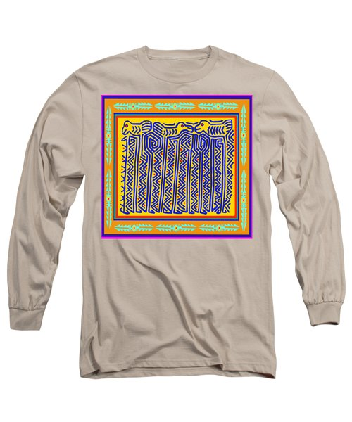 Long Sleeve T-Shirt featuring the digital art Storks by Vagabond Folk Art - Virginia Vivier
