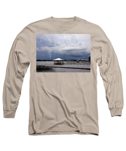 Long Sleeve T-Shirt featuring the photograph Storm Over Clay Lake by Rosalie Scanlon