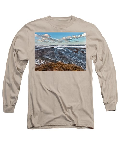 Stormy Beach Long Sleeve T-Shirt by Mike Santis