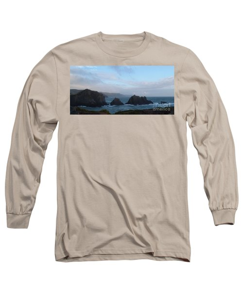 Hartland Quay Storm Long Sleeve T-Shirt by Richard Brookes