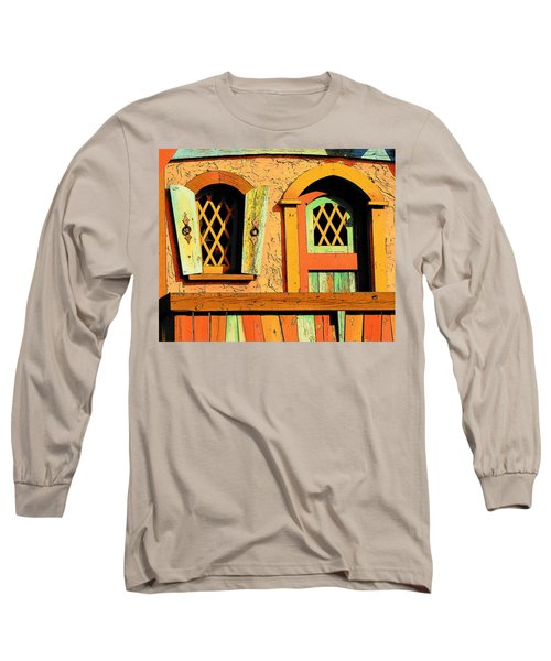 Storybook Window And Door Long Sleeve T-Shirt by Rodney Lee Williams