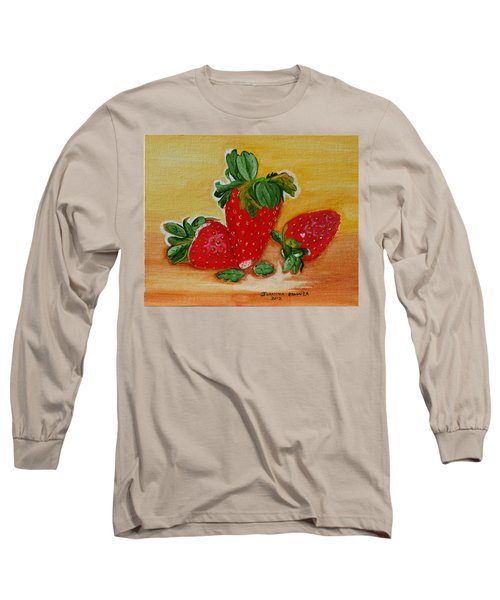 Strawberry Delight Long Sleeve T-Shirt by Johanna Bruwer