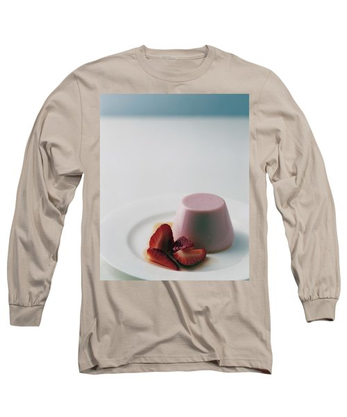 Strawberry Panna Cotta With Strawberry Compote Long Sleeve T-Shirt