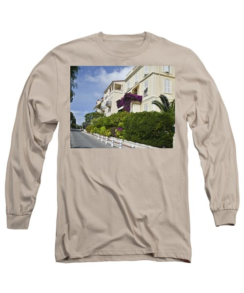 Long Sleeve T-Shirt featuring the photograph Street In Monaco by Allen Sheffield