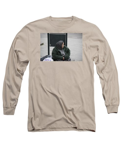 Long Sleeve T-Shirt featuring the photograph Street People - A Touch Of Humanity 9 by Teo SITCHET-KANDA